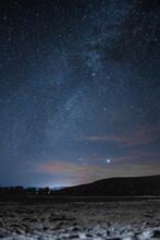 Estrellas En El Valle De La Trinidad, Baja California Norte, México.