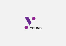 Abstract Y Letter Minimalist Logo Design