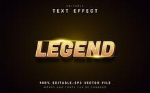 Legend Text, 3d Yellow Gradient Text Effect Editable