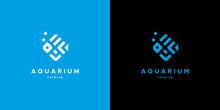 Modern Aquarium Fish Logo