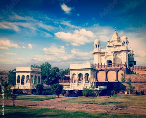 Obraz na plátně Jaswanth Thada mausoleum, Jodhpur, Rajasthan, India