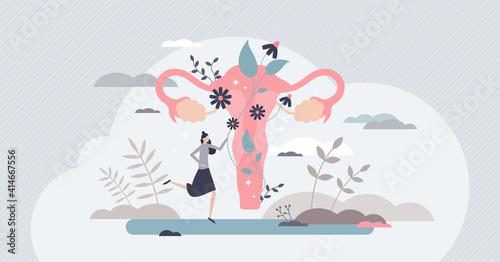 Fototapeta Fertility as medical reproduction healthcare and checkup tiny person concept obraz