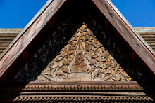 Roof Of Temple In Thailand, Digital Photo Picture As A Background , Taken In Sisaket Temple Laos, Asia , Taken In Sisaket Temple , Luang Prabang, Laos, Asia