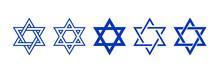 Star Of David Symbol. Jewish Israeli Religious Symbol. Judaism Sign. Vector Illustration