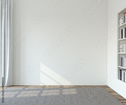 Fototapeta Interior. Empty room. 3d render. obraz