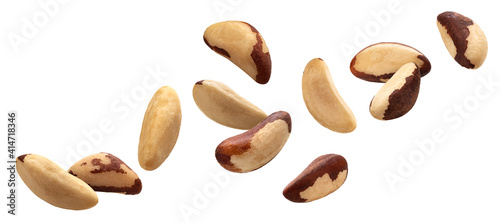 Canvas Brazil nuts isolated on white background with clipping path