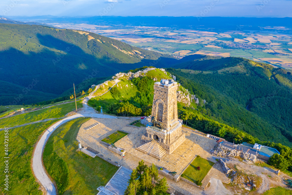 Fototapeta Monument to Freedom commemorating battle at Shipka pass in 1877-1878 in Bulgaria