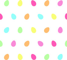 Seamless Vector Pattern With Colorful Easter Eggs