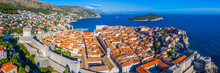 Aerial View Of The Old Town Of Croatian Town Dubrovnik