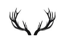 Deer Antlers Or Horns Vector Illustration.