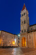Night view of the cathedral of Saint Lawrence in Trogir, Croatia