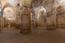 Stone Vaults Of Diocletian's Palace In Croatian City Split