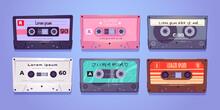 Audio Cassettes, Retro Tapes, Music Media Storage