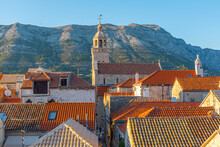 Cathedral Of Saint Mark And Rooftops Of Korcula, Croatia