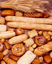 Breads Of Various Types, Sweet And Savory