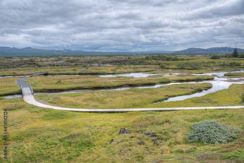 Obraz na plátne Landscape of Thingvellir national park in Iceland