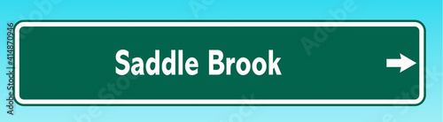Canvas Saddle Brook Road Sign