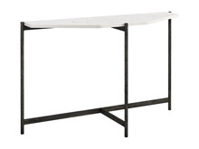 Modern Console Table With Wrought Iron Base. 3d Render
