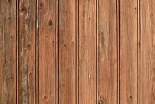 Texture D'une Vieille Porte En Bois Avec Des Planches Marron Au Soleil