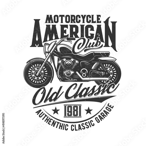 Foto Motorcycle races, bikers club, motorbike riders motor sport, vector icon