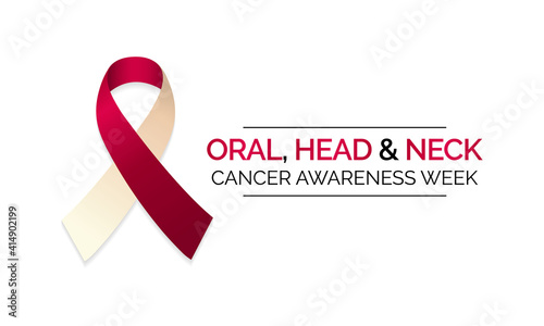 Fotografia Vector illustration on the theme of Oral, head and neck cancer awareness week observed each year in April