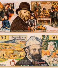 P.cezanne. Paul Cezanne 1839-1906 World-famous Artists On 50 Numismas Canberra 2019 Banknotes. Fancy Polymer Money. Applied Currency Concepts. Banknotes Collection.