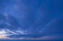 Purple Paradise Sunrise Above The Clouds, Panorama