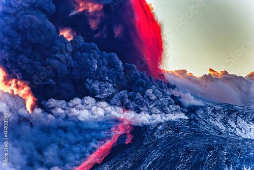 eruption of the Etna volcano Fototapeta