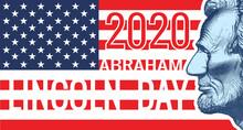 2020 Lincoln Day Vintage Banner Background