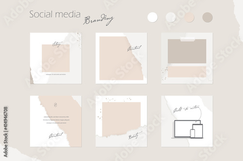 Canvas Print social media branding template
