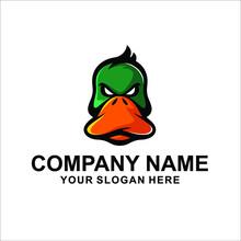Duck Head Logo Vector