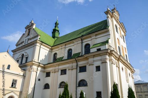 Fototapeta Dominican Monastery, church of St. Josaphat at ancient historical city Zhovkva, Lviv region, western Ukraine. obraz