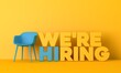 We are hiring job opportunity message. 3D Rendering