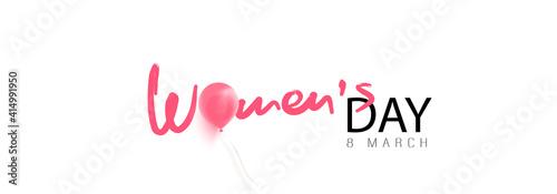 Obraz March 8, women's day banner. Vector - fototapety do salonu
