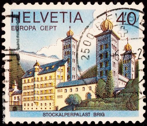 Fotomural Stockalper Palace in Brig, Switzerland