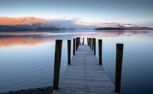 Sunrise Over Lakeside Landing Stage