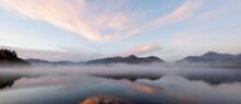 Sunrise Over Misty Mountains