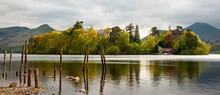 Derwentwater Lake And Mooring Posts
