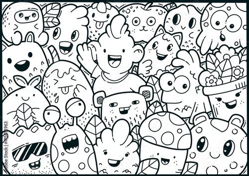 Fototapeta Doodle Monster