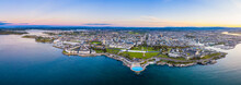 Plymouth, City Skyline, Hoe Park And Lighthouse, Plymouth Sound, Devon