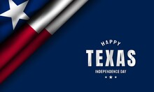 Texas Independence Day Background. Vector Illustration.