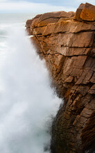 Thunder Hole In Acadia National Park In Winter 2021