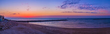 Panorama Of The Sunset Beach, Tel Aviv, Israel