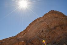 Sun Burst On The Top Of Vasquez Rocks