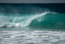 A Beautiful Perfect Wave Breaking On The Coast