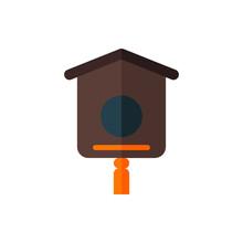 Bird House, Bird Farm, Bird Nest Flat Icon Logo Illustration Vector Isolated. Spring And Season Icon-Set. Suitable For Web Design, Logo, App, And UI.