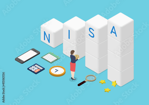 Fotografija 積立NISA・投資信託・資産運用のイラスト素材