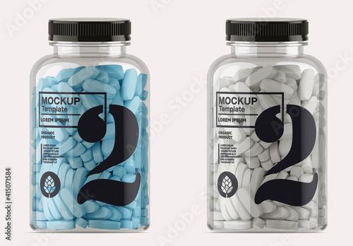 Fototapeta Clear Pills Bottle Mockup obraz