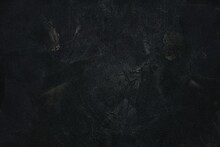 Black Grunge Sand Wall Texture Background, Suitable For Overlay And Color Cast Effect.