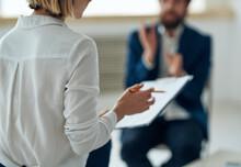 Woman Psychologist On All Professional Diagnostics Consultation